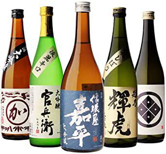 画像: 日本酒最高ランクの大吟醸720ml 5本セット