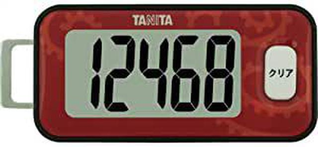 画像: タニタ(TANITA) 3Dセンサー搭載歩数計 赤 FB-731-RD