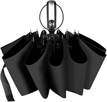画像: 折りたたみ傘 ワンタッチ自動開閉 おりたたみ傘 頑丈な10本骨 UVカット率99.9%以上