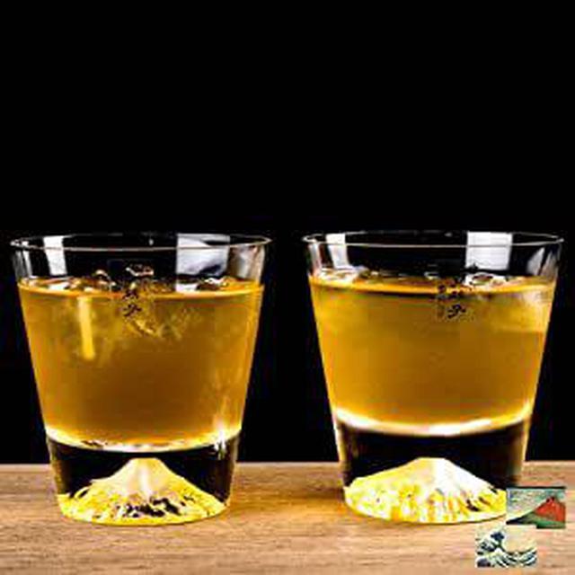 画像: 観光庁長官賞 受賞商品 江戸硝子 切子  富士 ウイスキーグラス ロックグラス