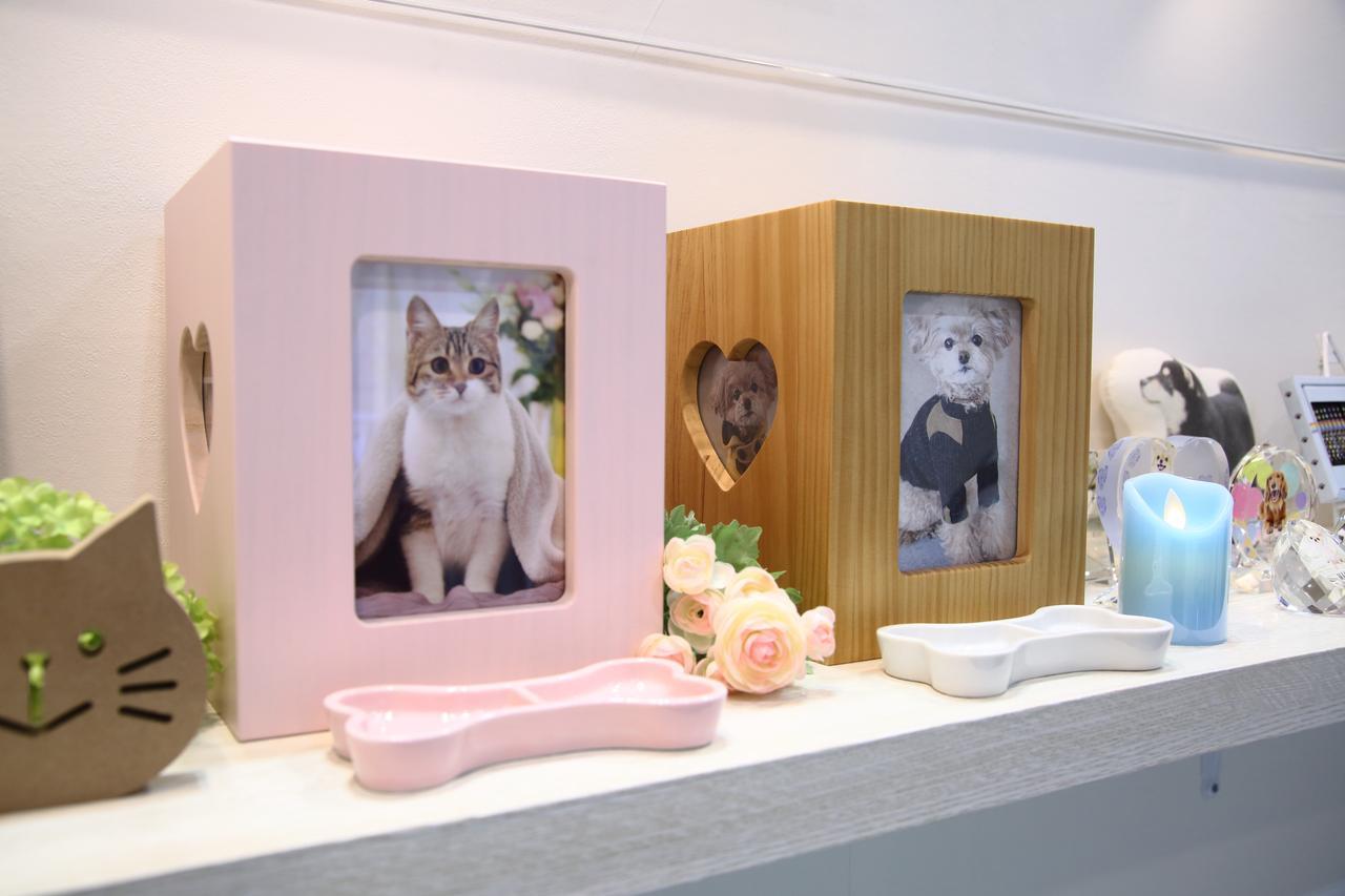 画像: 店舗や通販でペット専用の仏壇や仏具、棺やメモリアルグッズも販売している