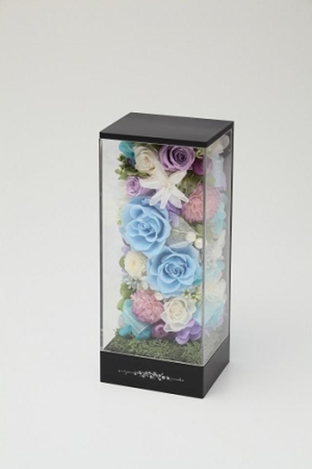 画像: プリザーブドフラワーの弔慰用電報台紙 DENPO「追悼花」を販売開始/NTT西日本 NTT東日本