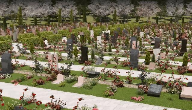 画像: VRでふくらむ、理想のお墓のイメージ
