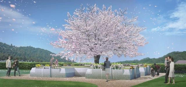 画像: 家族の遺骨が何体でも追加できる樹木葬「家族永代供養さくら」オープン/公益財団法人墓園普及会