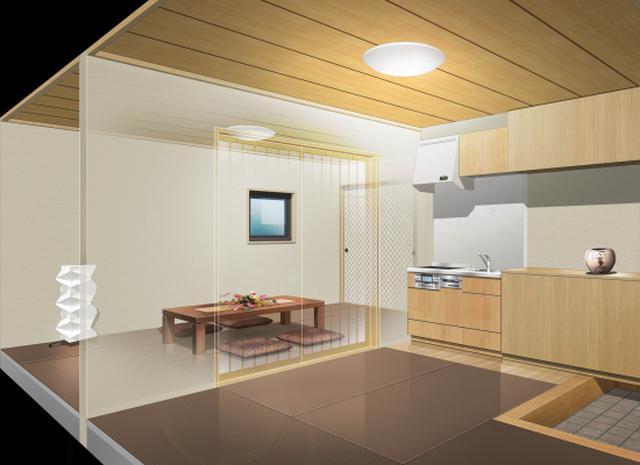 画像: 故人が眠る空間と家族が集う空間を一体化