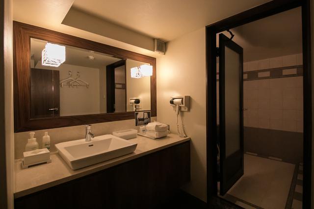 画像: ホテルのような広くて清潔なパウダールーム