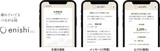 画像: スマホと電子決済で供養ができる、小さなお葬式の新サービス「 enishi(えにし)」をリリース/株式会社ユニクエスト