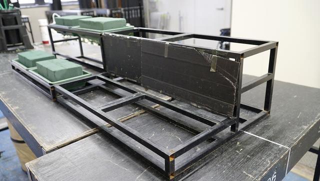 画像: 段差部分には黒いプラ板を貼って使用