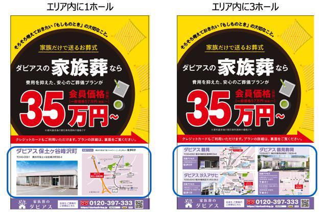 画像: ドミナント展開すれば、あるエリアにおいて同じ配布枚数で複数ホールの宣伝が可能。つまり費用対効果が格段に良いということ