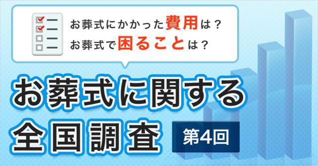 画像1: お葬式に関する全国調査の速報値を発表/株式会社 鎌倉新書