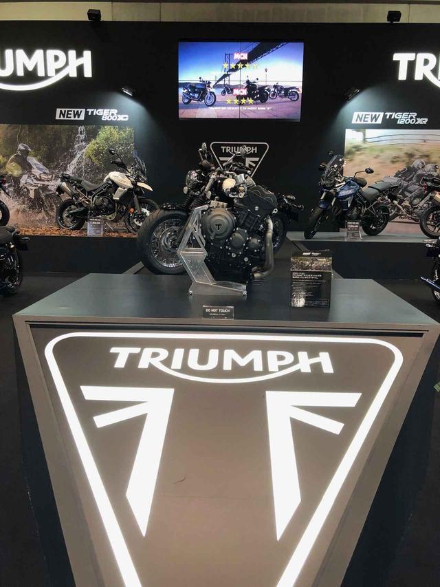 画像: トライアンフの大阪&東京モーターサイクルショー展示車両