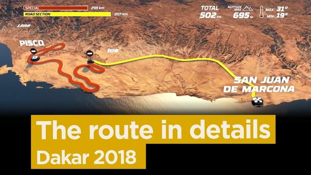画像: The stage by stage route - Dakar 2018 youtu.be