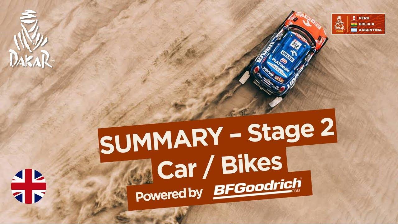 画像: Summary - Car/Bike - Stage 2 (Pisco / Pisco) - Dakar 2018 youtu.be