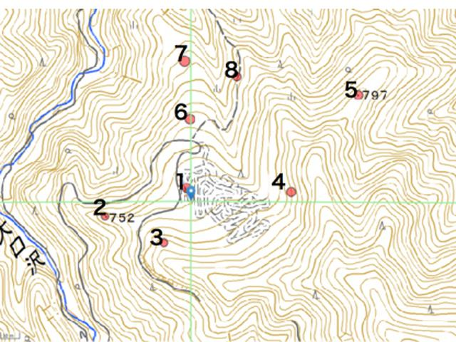 画像: チェックポイント地図の例