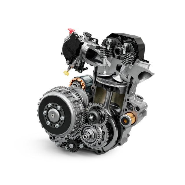 画像: 軽量になったエンジン