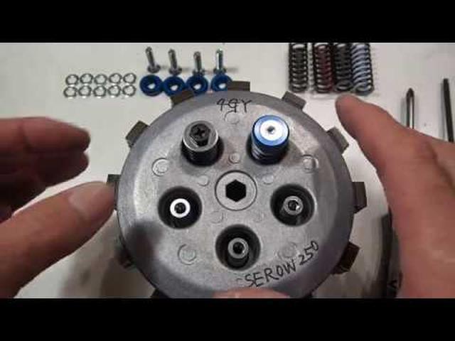 画像: YAMAHA SEROW250 WR250R(X.F) YZ250F(FX) YZ125 SY250F 用クラッチリテーナー 工房きたむら youtu.be