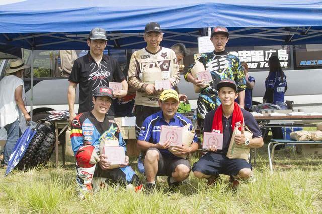 画像: G-NET第2戦、サバイバル広島での表彰。左上:藤田貴敏、中上:上福浦明男、右上:中野誠也、左下:高橋博、中下:鈴木健二、右下:熊本悠太。
