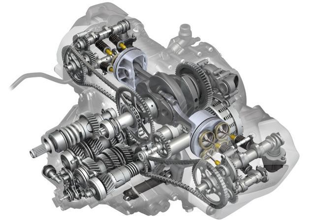 画像: エンジン回転数に応じてバルブタイミングが変わる