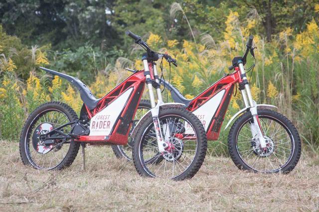 画像1: 安全な電動トライアルバイク、操作はスクーターと同じ!