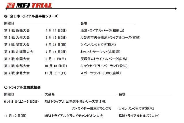 画像2: 2019年、全日本選手権カレンダーが暫定発表