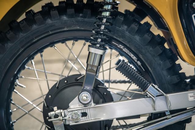 画像2: 16インチ化されたリアホイールで、ミニモトのタイヤを履く