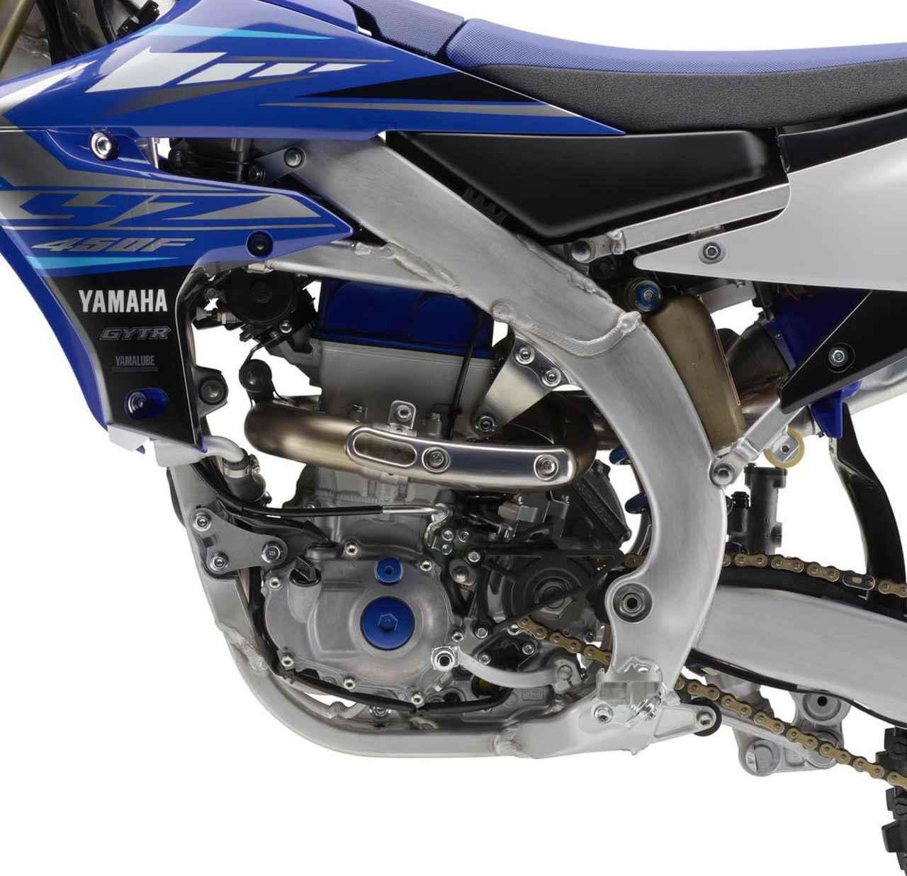 画像1: モトクロスモデルのYZ450Fは エンジン、フレーム、ブレーキなどを一新