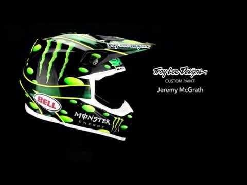 画像: Custom Painting Jeremy McGrath's Monster Energy Helmet   Troy Lee Designs (4K) youtu.be