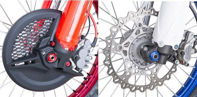画像: 左側 品番:ZE93-8012/CRF450L装着イメージ / 右側 品番:ZE93-8036/YZ450F装着イメージ