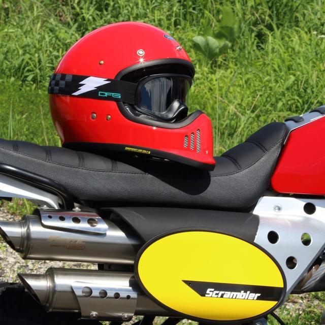 画像1: バイザーを外したオフロードメットで、バイクに乗っているあなたへ