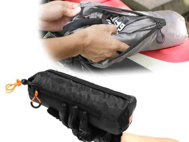 画像: 収納袋は寝袋型で、カバーと一体化