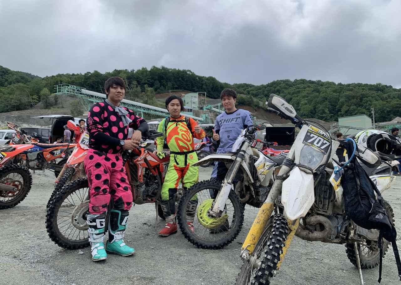 画像: HIDAKA ROCKSに参戦したFUNAI RACINGのメンバー。左から男中田、タケル、メガネ。