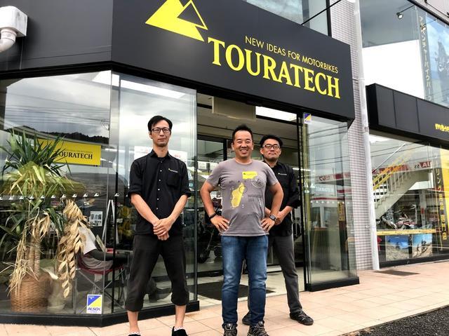 画像: ハードエンデューロライダーの小松さん(左)、ラリー好きの店長清水さん、そして中央が水谷太郎さん