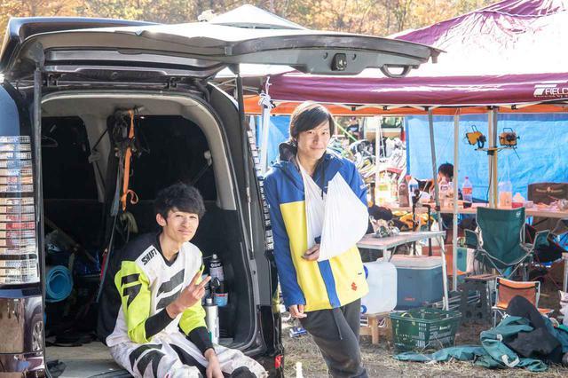 画像: 土曜日のフリー走行で腕を怪我してしまって残念な元キャンオフ東日本代表の楠くん。