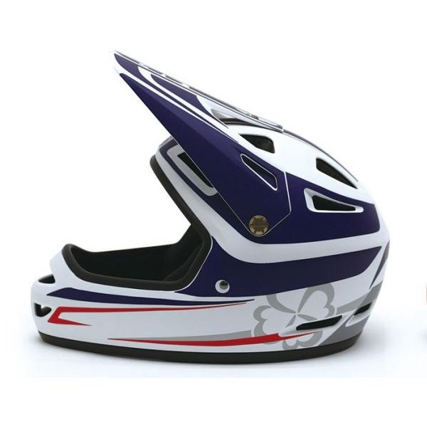 画像: ホールショット ヘルメット ホワイト/ブルー/ ヨツバキッズ ヨツバキッズ