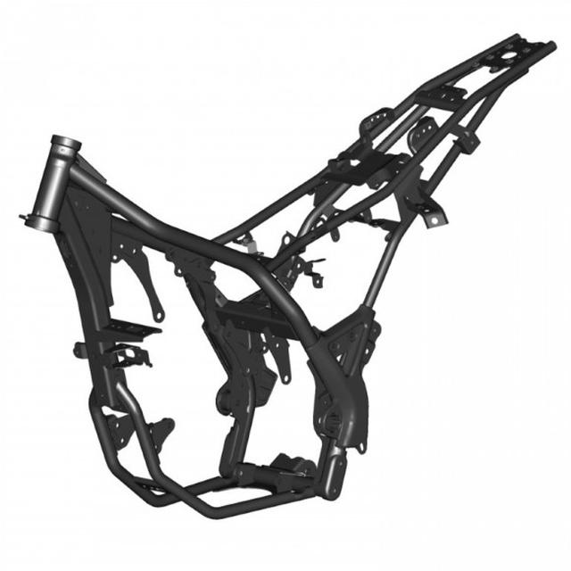 画像1: 正立フォークに、スチールセミダブルクレードル