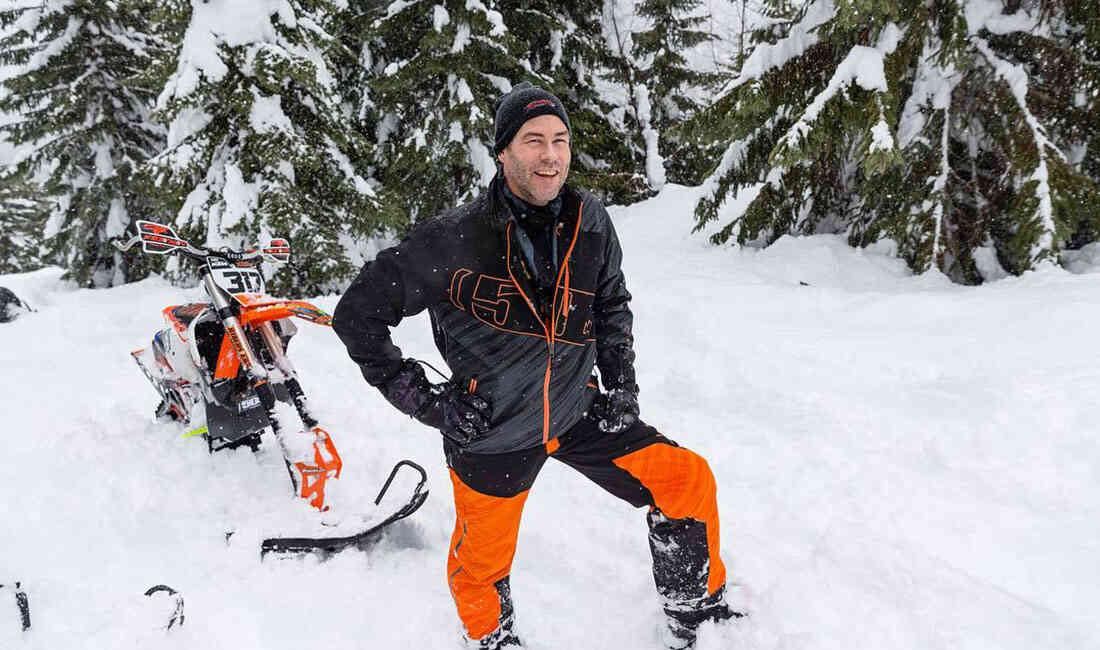 画像: スノーバイクのアンバサダー