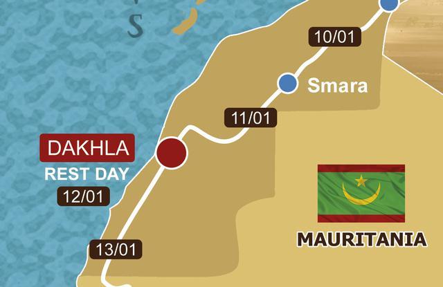 画像: 1月11日(土) ステージ5 モロッコ(西サハラ) スマラ~ダクラ 686.10km