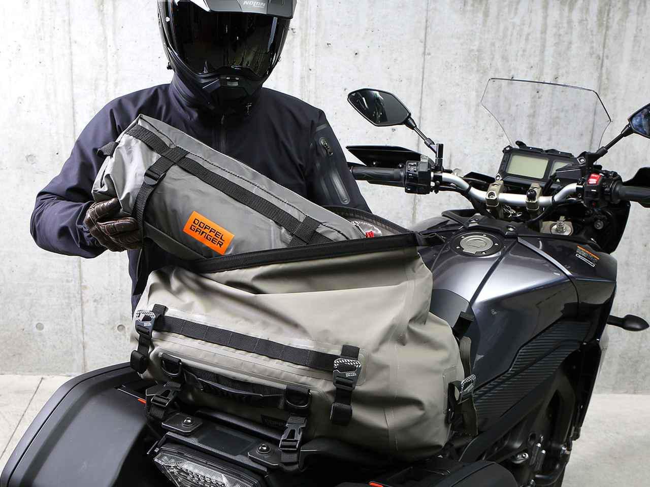 画像3: バイク向けならではの細かい気配り、有能なソロテント