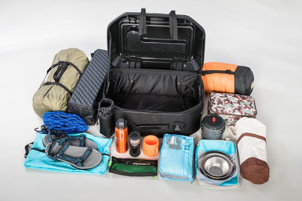 Images : 10番目の画像 - 「このシートバッグは荷物を詰めるだけじゃない。1つで2役、なんとテーブルに変形」のアルバム - webオートバイ