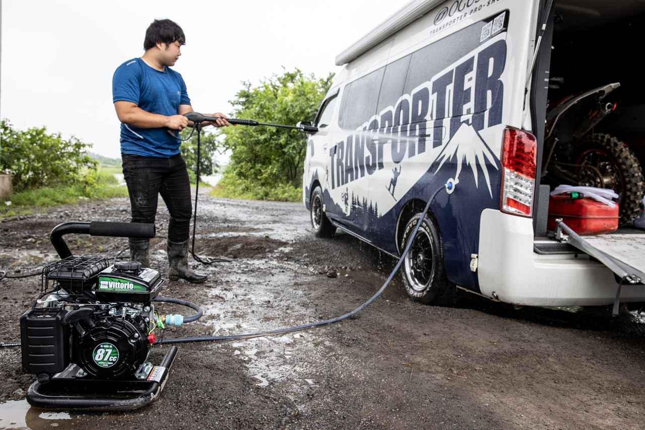 画像15: 半年間で100台売れたエンジン式洗車機、その理由は使ってみたら納得だった