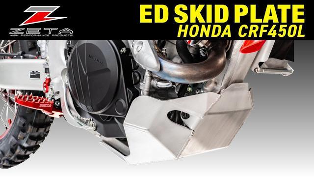 画像: ZETA ED スキッドプレート CRF450L www.youtube.com