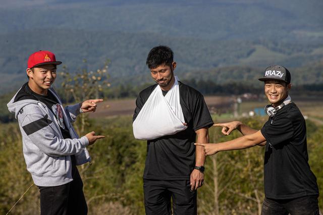 画像: イタリア行きの1週間前、全日本エンデューロ選手権のルスツで腕を痛める大神…。