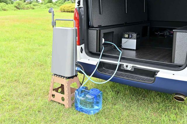 画像: ※写真はボックス内部に小型電動ポンプを搭載しています