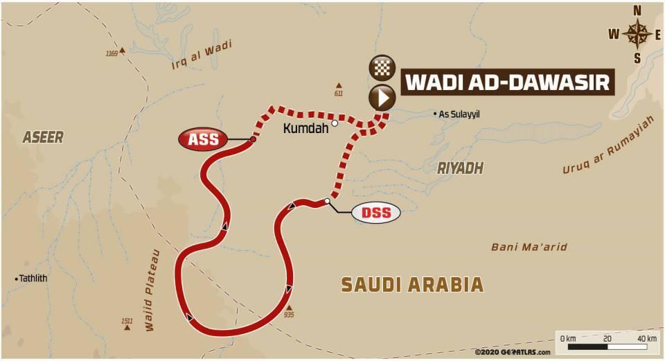画像: ワディ・アド・ダワシルをスタートして戻ってくる629km。 ビバークが移動しないため、ライダー以外のチーム員には時間的にも身体的にも余裕が生まれる。