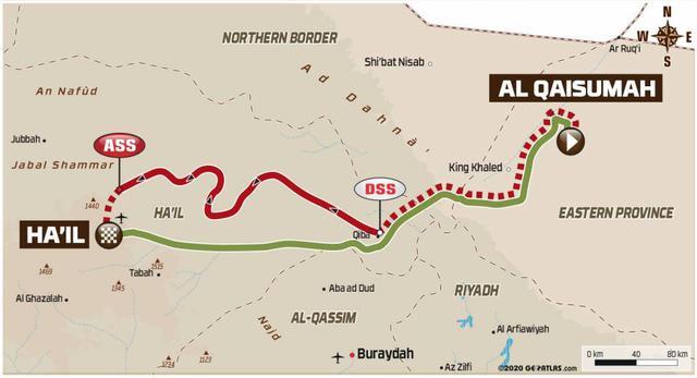 画像: カイスマフ→ハイルへ向かう。100kmの短縮によりリエゾンと合わせて約500kmのステージとなった。