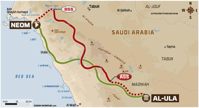 画像: 紅海に沿って南下、ネオムからアル・ウラーへ向かう。