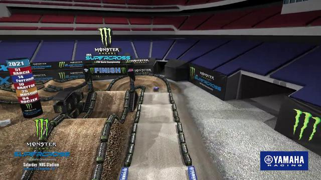 画像: 2021 Supercross Yamaha Animated Track Map - Round 3 - Houston youtu.be