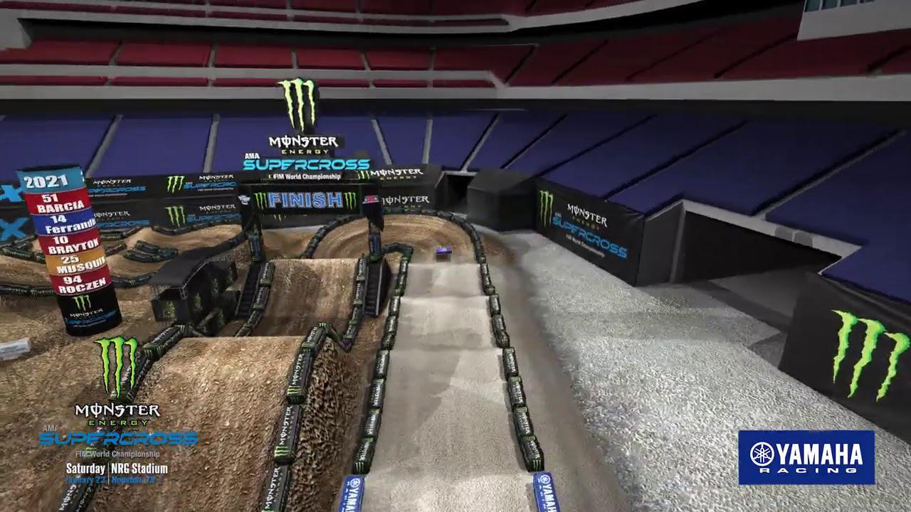 画像: 2021 Supercross Yamaha Animated Track Map - Round 3 - Houston youtu.be