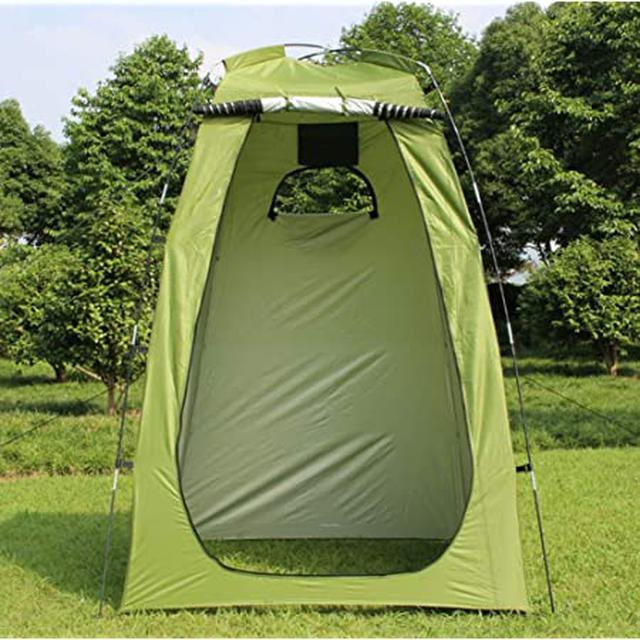 画像: Amazon   HONEI 着替え用テント お着替えテント 簡易トイレ 簡易シャワー室 簡易テント ワンタッチ式 キャンプ 簡易 小型 コンパクト 防災 緊急 母子 公園 アウトドア キャンプ 屋外 紫外線防止 日よけ 便利グッズ (アーミーグリーン)   HONSAN   テント本体
