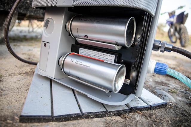 画像2: 家庭用ガスボイラーメーカーとOGUshowがコラボ 走り終わったら、すぐ温水シャワー